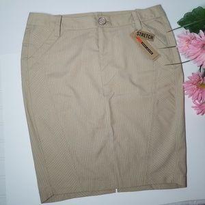 DKNY Metallic Pinstripe Juniors Pencil Skirt 11